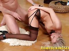 hardcore, blonde, babe, reverse cowgirl, stockings, doggy style, cowgirl, beauty, pantyhose, glamour, missionary