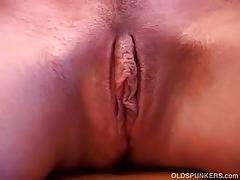 Blonde milf toying wet pussy