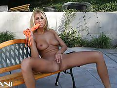 Fit blonde milf clara g fingering