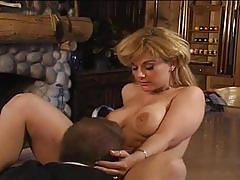 Busty blonde milf gets some young cock
