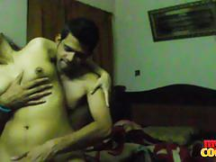 Naughty indian real couple homemade sex taple.