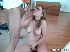 Saggy-tits ex girlfriend sucks my dick dry