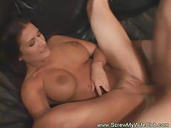 Horny swinger fucked in front of husband