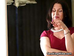 Mina enjoys some naughty teasing