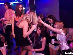 Sexy sluts are ready to go lesbo in the club