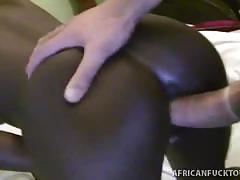 Horny petite african gets interracial