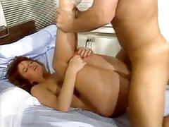 Redhead belle gets banged deep and hard