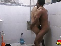 Indian couple take a hot shower and make out