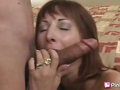 Busty milf in lingerie gets banged