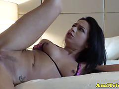 Adriana lynn probes a cock in her butt
