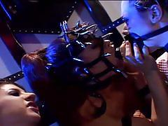 Extreme hardcore bdsm lesbian threesome action