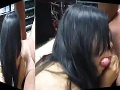 Two ebony sluts take on a white dick