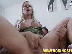 Cock riding blonde whore on cam