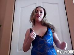 Mistress telling you to jerk off in front of her