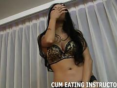 Sensual dommes make you eat your own cum