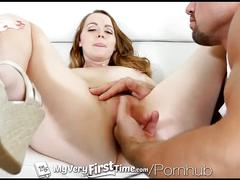Myveryfirsttime - leigh rose tries dick up her ass in her first anal scene