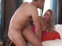Blonde hot bitch gets her tight butt hole fucked.
