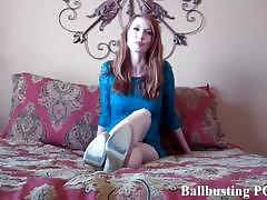 Mistress wants to bust your balls with her heels