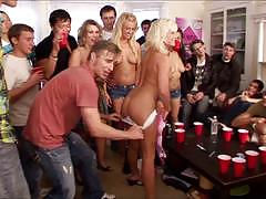 Playboy party babes fucked in orgy