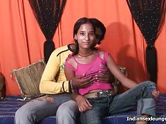 Petite desi sucking and fucking in front of cam