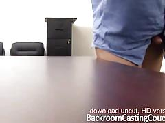 Danielle sucks and fucks on backroom casting couch