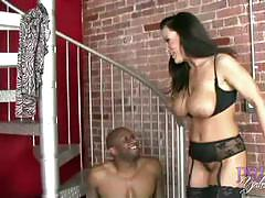 Boobsy milf lisa ann banged hard by a black guy