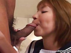 Schoolgirl miku horikoshi blowjob