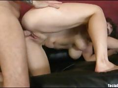 Busty treasure pukes and gets plowed