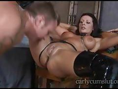 Extreme milf carly all tied up and fucked