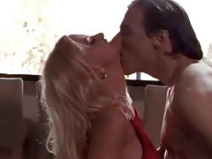 Busty blonde fucked by a horny guy