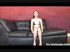 Newbie bailey rae throated and pounded rough