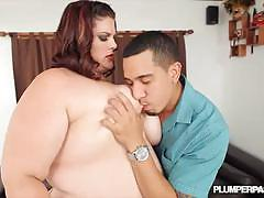 Bbw brunette erin green gets banged very hard