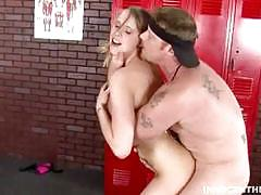 Teen anna stevens gets banged in locker room