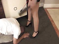 Miss tiffany enjoys her pathetic slave
