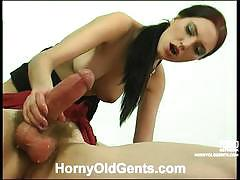 Office girl judith jerking and sucking boss dick