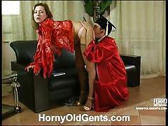 Mima congratulating her old man through sex