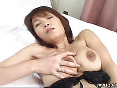 Sexy big titted babe miri masturbation hot in solo