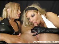 Blondie blow double blowjob