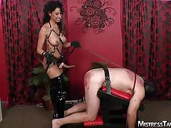 Mistress tangent extreme cock and strapon torture