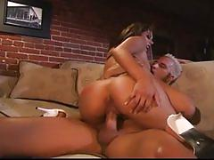 Monstrous cock nailing big tits brunette bombshell