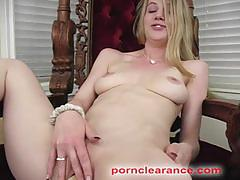Sexy blonde anita blue gets fucked by a machine