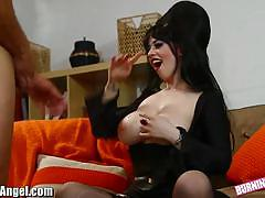 Babe larkin love doggy styled and jizzed on tits