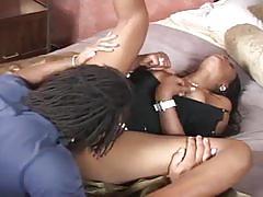 Black slut loves getting her pussy filled