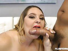 Bbw april mc kenzie rides a hard rod of meat