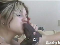 Lesbian roommates suck their toes in stockings