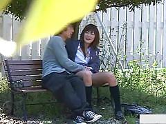 Hidden cam voyeur catches these teens in action