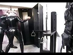 Evil master tortures a hot redhead slave girl