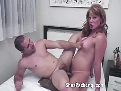 Voluptuous tranny deserves an ass fucking session