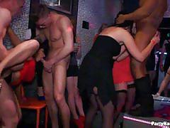 Sex craving chicks fucking at the public sex party