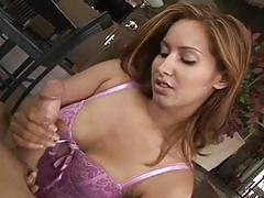 Huge stiff rod enjoying awesome latina hand job